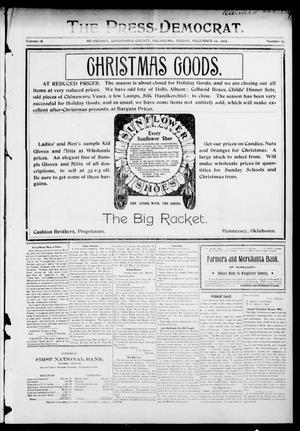 Primary view of object titled 'The Press-Democrat. (Hennessey, Okla.), Vol. 14, No. 13, Ed. 1 Friday, December 22, 1905'.