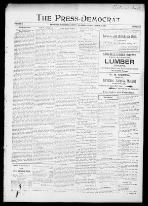 Primary view of object titled 'The Press-Democrat. (Hennessey, Okla.), Vol. 14, No. 23, Ed. 1 Friday, March 2, 1906'.