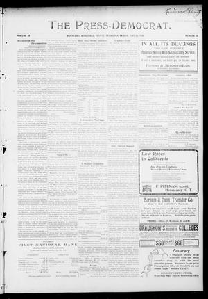 Primary view of object titled 'The Press-Democrat. (Hennessey, Okla.), Vol. 14, No. 35, Ed. 1 Friday, May 25, 1906'.