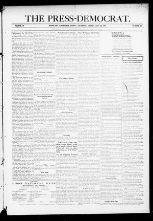 Primary view of object titled 'The Press-Democrat. (Hennessey, Okla.), Vol. 14, No. 43, Ed. 1 Friday, July 20, 1906'.