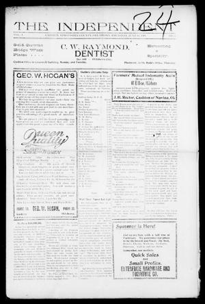 Primary view of object titled 'The Independent (Cashion, Okla.), Vol. 1, No. 5, Ed. 1 Thursday, June 11, 1908'.