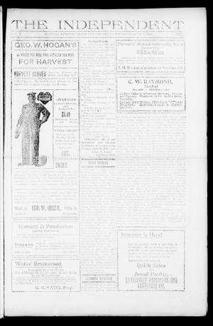 Primary view of object titled 'The Independent (Cashion, Okla.), Vol. 1, No. 7, Ed. 1 Thursday, June 25, 1908'.