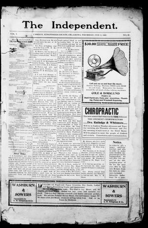 Primary view of object titled 'The Independent. (Cashion, Okla.), Vol. 1, No. 40, Ed. 1 Thursday, February 11, 1909'.