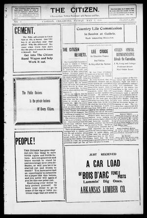 Primary view of object titled 'The Citizen. (Cashion, Okla.), Vol. 1, No. 3, Ed. 1 Friday, May 7, 1909'.