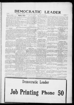 Primary view of object titled 'Democratic Leader (Tahlequah, Okla.), Vol. 1, No. 37, Ed. 1 Thursday, February 2, 1922'.