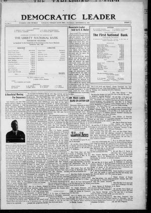 Primary view of object titled 'Democratic Leader (Tahlequah, Okla.), Vol. 2, No. 17, Ed. 1 Thursday, September 21, 1922'.