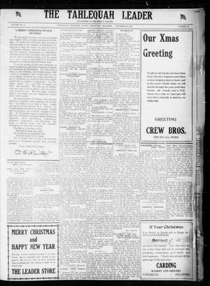 Primary view of object titled 'The Tahlequah Leader (Tahlequah, Okla.), Vol. 2, No. 29, Ed. 1 Thursday, December 21, 1922'.