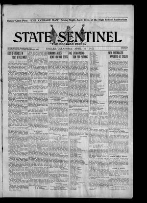 Primary view of object titled 'State Sentinel (Stigler, Okla.), Vol. 16, No. 51, Ed. 1 Thursday, April 6, 1922'.