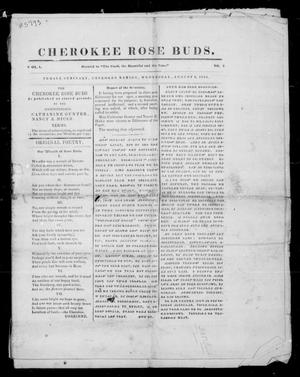 Primary view of object titled 'Cherokee Rose Buds. (Female Seminary, Cherokee Nation), Vol. 1, No. 2, Ed. 1 Wednesday, August 2, 1854'.