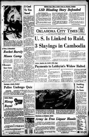 Primary view of object titled 'Oklahoma City Times (Oklahoma City, Okla.), Vol. 78, No. 287, Ed. 1 Friday, January 19, 1968'.