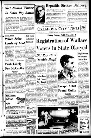 Primary view of object titled 'Oklahoma City Times (Oklahoma City, Okla.), Vol. 79, No. 97, Ed. 1 Tuesday, June 11, 1968'.