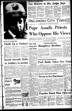 Primary view of object titled 'Oklahoma City Times (Oklahoma City, Okla.), Vol. 79, No. 248, Ed. 1 Wednesday, December 4, 1968'.