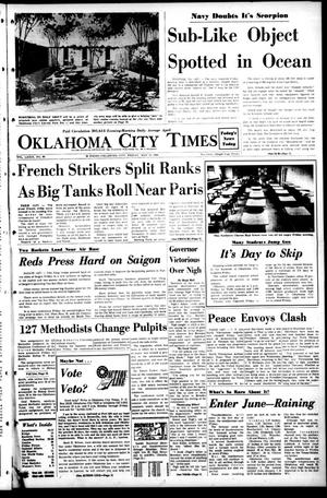 Primary view of object titled 'Oklahoma City Times (Oklahoma City, Okla.), Vol. 79, No. 88, Ed. 1 Friday, May 31, 1968'.