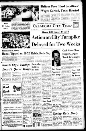 Primary view of object titled 'Oklahoma City Times (Oklahoma City, Okla.), Vol. 79, No. 25, Ed. 1 Tuesday, March 19, 1968'.
