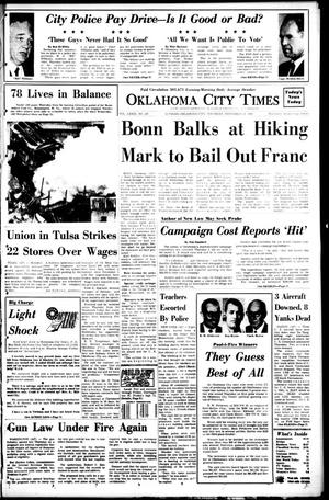 Primary view of object titled 'Oklahoma City Times (Oklahoma City, Okla.), Vol. 79, No. 237, Ed. 1 Thursday, November 21, 1968'.