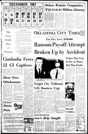 Primary view of object titled 'Oklahoma City Times (Oklahoma City, Okla.), Vol. 79, No. 261, Ed. 1 Thursday, December 19, 1968'.