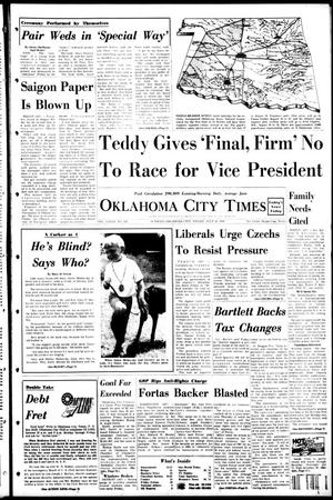 Primary view of object titled 'Oklahoma City Times (Oklahoma City, Okla.), Vol. 79, No. 136, Ed. 1 Friday, July 26, 1968'.