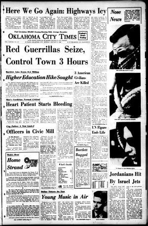 Primary view of Oklahoma City Times (Oklahoma City, Okla.), Vol. 78, No. 277, Ed. 1 Monday, January 8, 1968