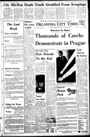 Primary view of object titled 'Oklahoma City Times (Oklahoma City, Okla.), Vol. 79, No. 216, Ed. 1 Monday, October 28, 1968'.