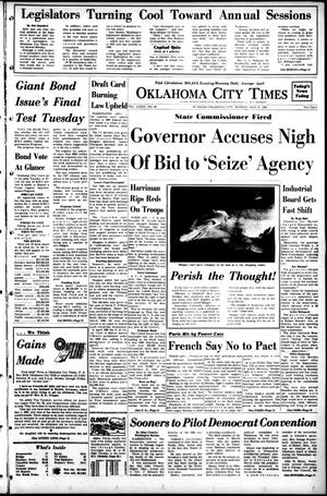 Primary view of object titled 'Oklahoma City Times (Oklahoma City, Okla.), Vol. 79, No. 84, Ed. 1 Monday, May 27, 1968'.