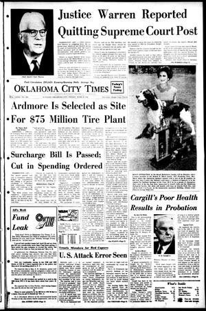Primary view of object titled 'Oklahoma City Times (Oklahoma City, Okla.), Vol. 79, No. 106, Ed. 1 Friday, June 21, 1968'.