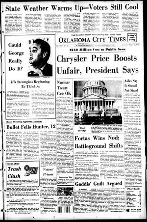 Primary view of Oklahoma City Times (Oklahoma City, Okla.), Vol. 79, No. 181, Ed. 1 Tuesday, September 17, 1968