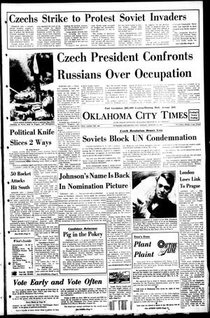 Primary view of object titled 'Oklahoma City Times (Oklahoma City, Okla.), Vol. 79, No. 160, Ed. 1 Friday, August 23, 1968'.