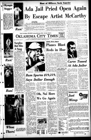 Primary view of object titled 'Oklahoma City Times (Oklahoma City, Okla.), Vol. 78, No. 307, Ed. 1 Monday, February 12, 1968'.