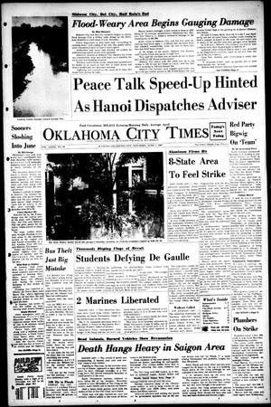 Primary view of object titled 'Oklahoma City Times (Oklahoma City, Okla.), Vol. 79, No. 89, Ed. 1 Saturday, June 1, 1968'.
