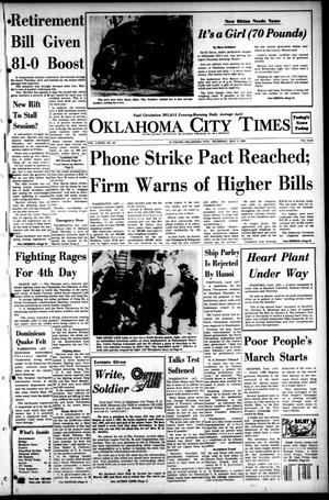 Primary view of object titled 'Oklahoma City Times (Oklahoma City, Okla.), Vol. 79, No. 63, Ed. 1 Thursday, May 2, 1968'.