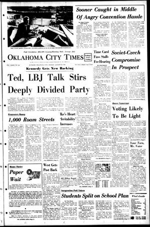 Primary view of object titled 'Oklahoma City Times (Oklahoma City, Okla.), Vol. 79, No. 162, Ed. 1 Monday, August 26, 1968'.