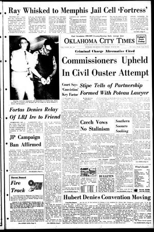 Primary view of object titled 'Oklahoma City Times (Oklahoma City, Okla.), Vol. 79, No. 130, Ed. 1 Friday, July 19, 1968'.