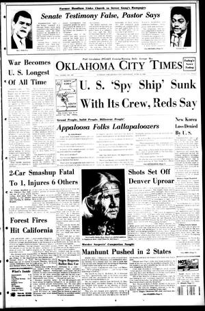 Primary view of object titled 'Oklahoma City Times (Oklahoma City, Okla.), Vol. 79, No. 107, Ed. 1 Saturday, June 22, 1968'.