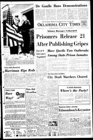 Primary view of object titled 'Oklahoma City Times (Oklahoma City, Okla.), Vol. 79, No. 98, Ed. 1 Wednesday, June 12, 1968'.