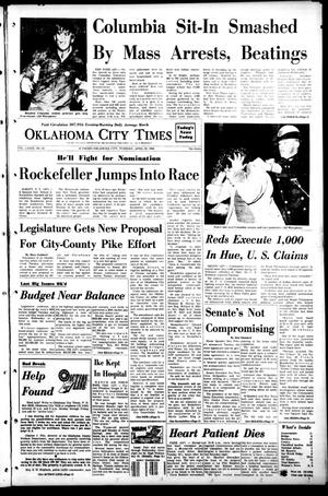 Primary view of object titled 'Oklahoma City Times (Oklahoma City, Okla.), Vol. 79, No. 61, Ed. 1 Tuesday, April 30, 1968'.