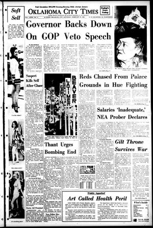 Primary view of object titled 'Oklahoma City Times (Oklahoma City, Okla.), Vol. 78, No. 318, Ed. 1 Saturday, February 24, 1968'.