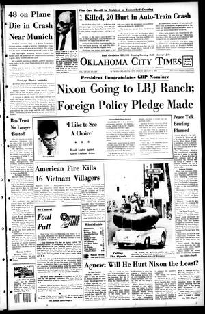 Primary view of object titled 'Oklahoma City Times (Oklahoma City, Okla.), Vol. 79, No. 148, Ed. 1 Friday, August 9, 1968'.