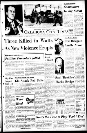 Primary view of object titled 'Oklahoma City Times (Oklahoma City, Okla.), Vol. 79, No. 150, Ed. 1 Monday, August 12, 1968'.
