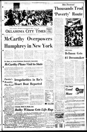 Primary view of object titled 'Oklahoma City Times (Oklahoma City, Okla.), Vol. 79, No. 104, Ed. 1 Wednesday, June 19, 1968'.