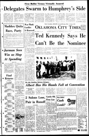 Primary view of object titled 'Oklahoma City Times (Oklahoma City, Okla.), Vol. 79, No. 164, Ed. 1 Wednesday, August 28, 1968'.