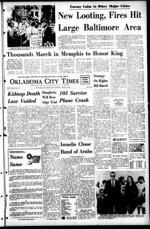 Primary view of object titled 'Oklahoma City Times (Oklahoma City, Okla.), Vol. 79, No. 42, Ed. 1 Monday, April 8, 1968'.