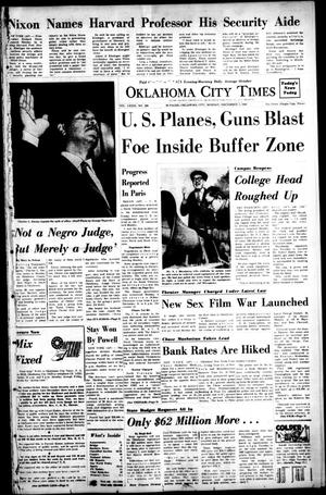 Primary view of object titled 'Oklahoma City Times (Oklahoma City, Okla.), Vol. 79, No. 246, Ed. 1 Monday, December 2, 1968'.