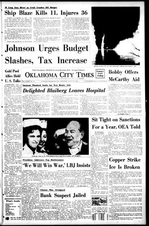 Primary view of object titled 'Oklahoma City Times (Oklahoma City, Okla.), Vol. 79, No. 23, Ed. 1 Saturday, March 16, 1968'.