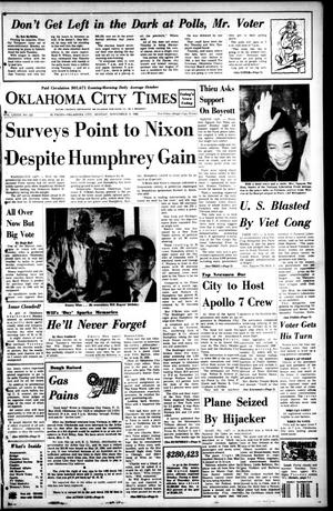 Primary view of object titled 'Oklahoma City Times (Oklahoma City, Okla.), Vol. 79, No. 222, Ed. 1 Monday, November 4, 1968'.