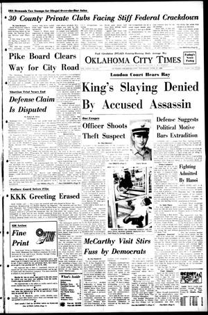 Primary view of object titled 'Oklahoma City Times (Oklahoma City, Okla.), Vol. 79, No. 111, Ed. 1 Thursday, June 27, 1968'.