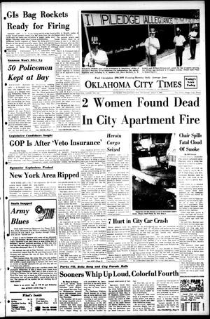 Primary view of object titled 'Oklahoma City Times (Oklahoma City, Okla.), Vol. 79, No. 117, Ed. 1 Thursday, July 4, 1968'.