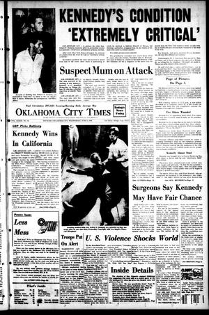 Primary view of object titled 'Oklahoma City Times (Oklahoma City, Okla.), Vol. 79, No. 92, Ed. 1 Wednesday, June 5, 1968'.