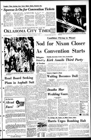 Primary view of object titled 'Oklahoma City Times (Oklahoma City, Okla.), Vol. 79, No. 144, Ed. 1 Monday, August 5, 1968'.