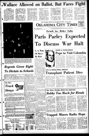 Primary view of object titled 'Oklahoma City Times (Oklahoma City, Okla.), Vol. 79, No. 68, Ed. 1 Wednesday, May 8, 1968'.