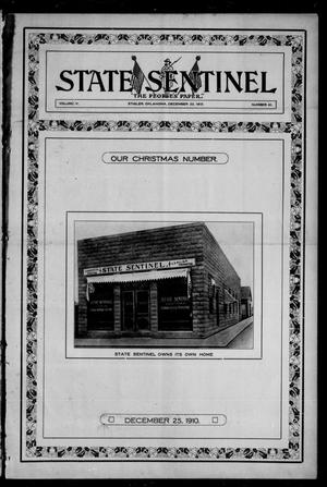Primary view of object titled 'State Sentinel (Stigler, Okla.), Vol. 5, No. 41, Ed. 1 Friday, December 23, 1910'.